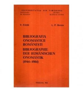 Bibliografia onomasticii...