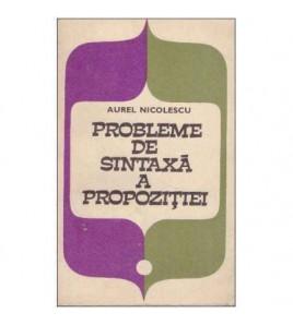 Probleme de sintaxa a...