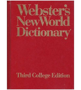 Webster's New World...