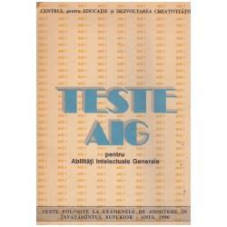 Teste AIG (pentru abilitati...