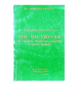 Mic dictionar de cuvinte,...
