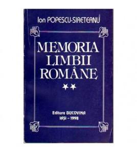 Memoria limbii romane vol.II