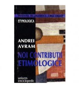 Noi contributii etimologice