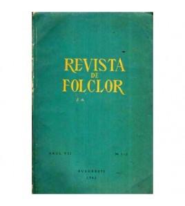 Revista de folclor - Anul VII